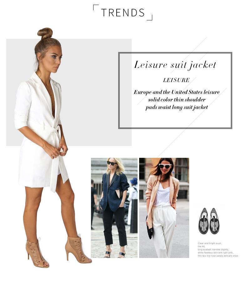 RichLuLu Bialy Blazer Kobiety Odzież Belt Biuro Panie Długi Rękaw Elegancka Kurtka Kobiet Głęboki Dekolt Blazer Cardigans 10