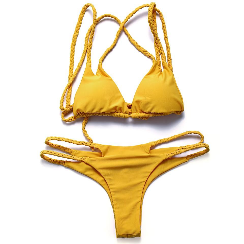 Bandea bikini 2017 kobiet stroje kąpielowe brazylijskie bikini halter kostium kąpielowy push up stroje kąpielowe bikini wyciąć dole maillot de bain bikini 6