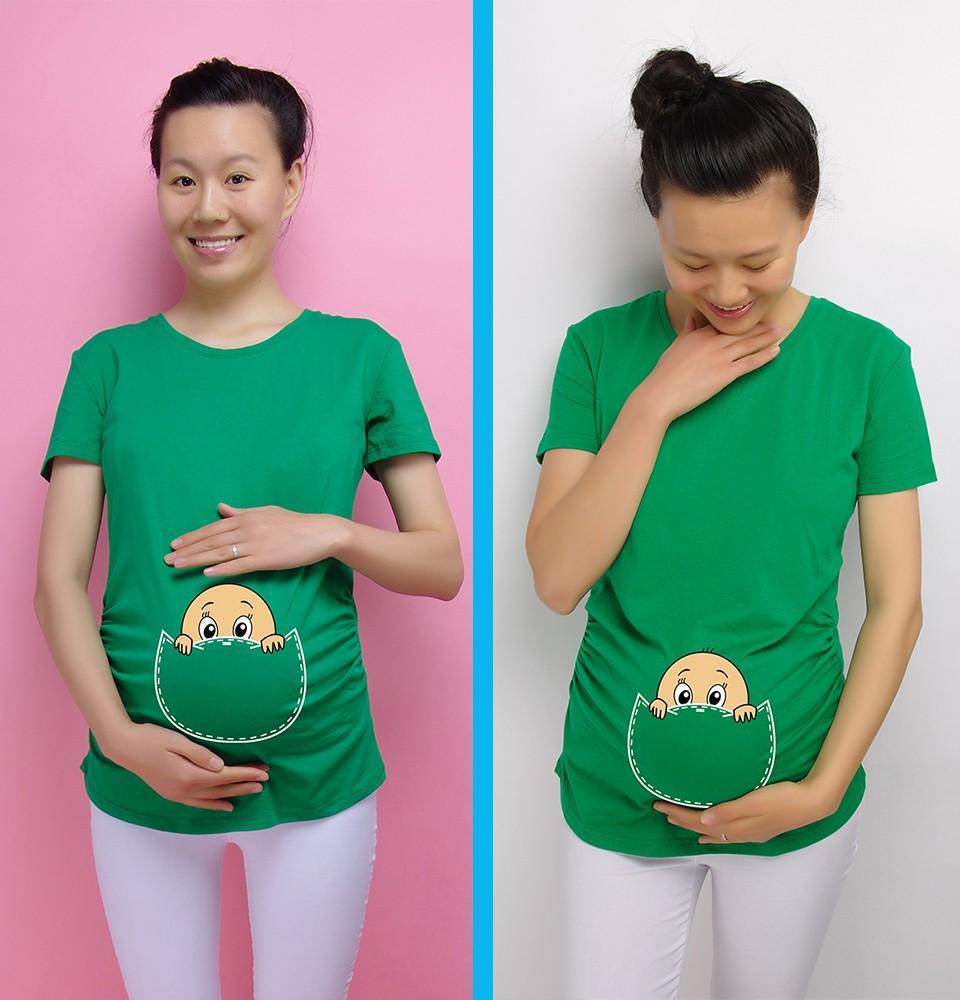 """""""Baby zerkanie out"""" 2016 Nowy Macierzyński Koszula specjalistyczne dla kobiet w ciąży plus rozmiar Europejski duży rozmiar ubrania ciążowe 10"""
