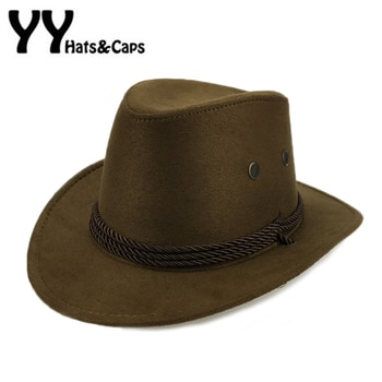 cd07eb5b7 Suede West Cowboy Hat For Kids Casual Jazz Caps Boys Travel Cowboy