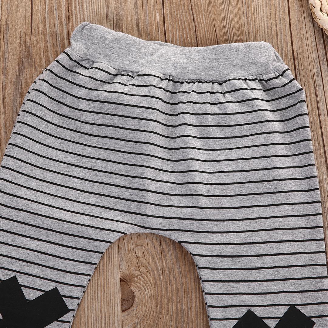 0-2Y Boys Baby Dziewczyny Cute Paski Potwór Dolne Spodnie Legginsy Spodnie Harem Dzieci Spodni 6