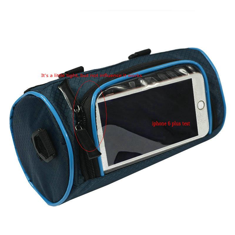 Wodoodporny Ekran Dotykowy Sakwy Rowerowe Rower Górski Rower Torby Phone Bag Case Rower Szosowy Rura Przednia Kierownica Torba Cylindra 32