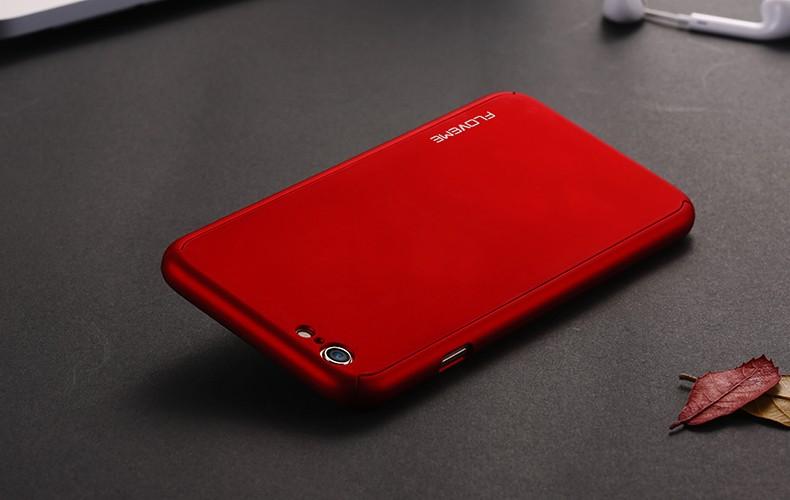Floveme 6 s 7 plus armor screen protector 360 stopni case dla iphone 7 6 6 s dla iphone 6 6s 7 plus full chroń odporny na wstrząsy pokrywa 29