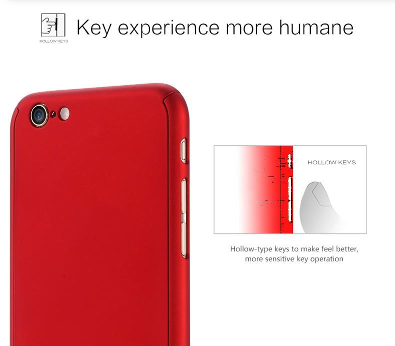 Floveme 6 s 7 plus armor screen protector 360 stopni case dla iphone 7 6 6 s dla iphone 6 6s 7 plus full chroń odporny na wstrząsy pokrywa 7