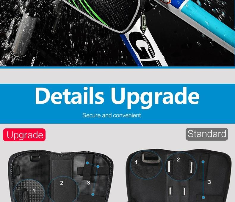 Rockbros mtb rama roweru przodu torba głowy górna rura podwójna IPouch Dotykowy Kolarstwo Pannier Dla 5.8/6 cal Smartfon Dotykowy ekran 9