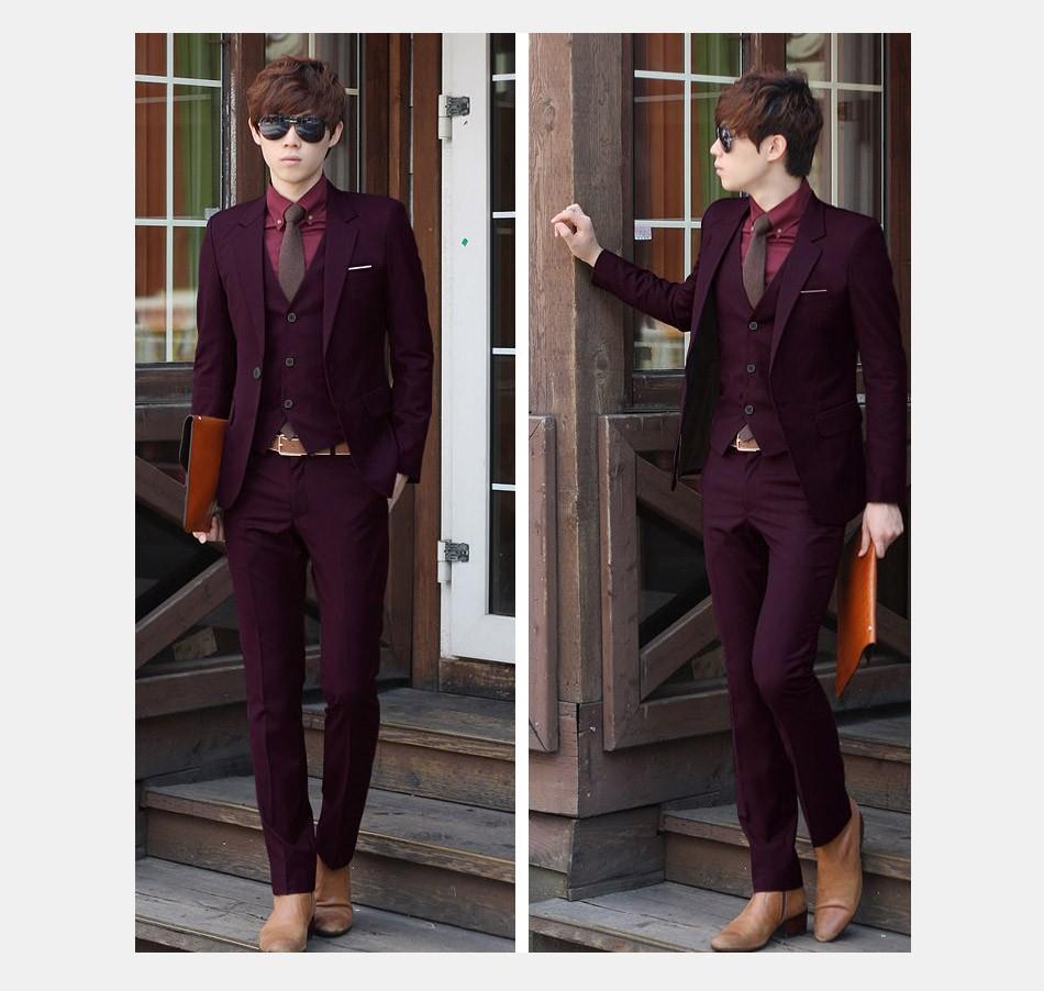 (Kurtka + Spodnie + Tie) luksusowe Mężczyzn Garnitur Mężczyzna Blazers Slim Fit Garnitury Ślubne Dla Mężczyzn Kostium Biznes Formalne Party Niebieski Klasycznej Czerni 11