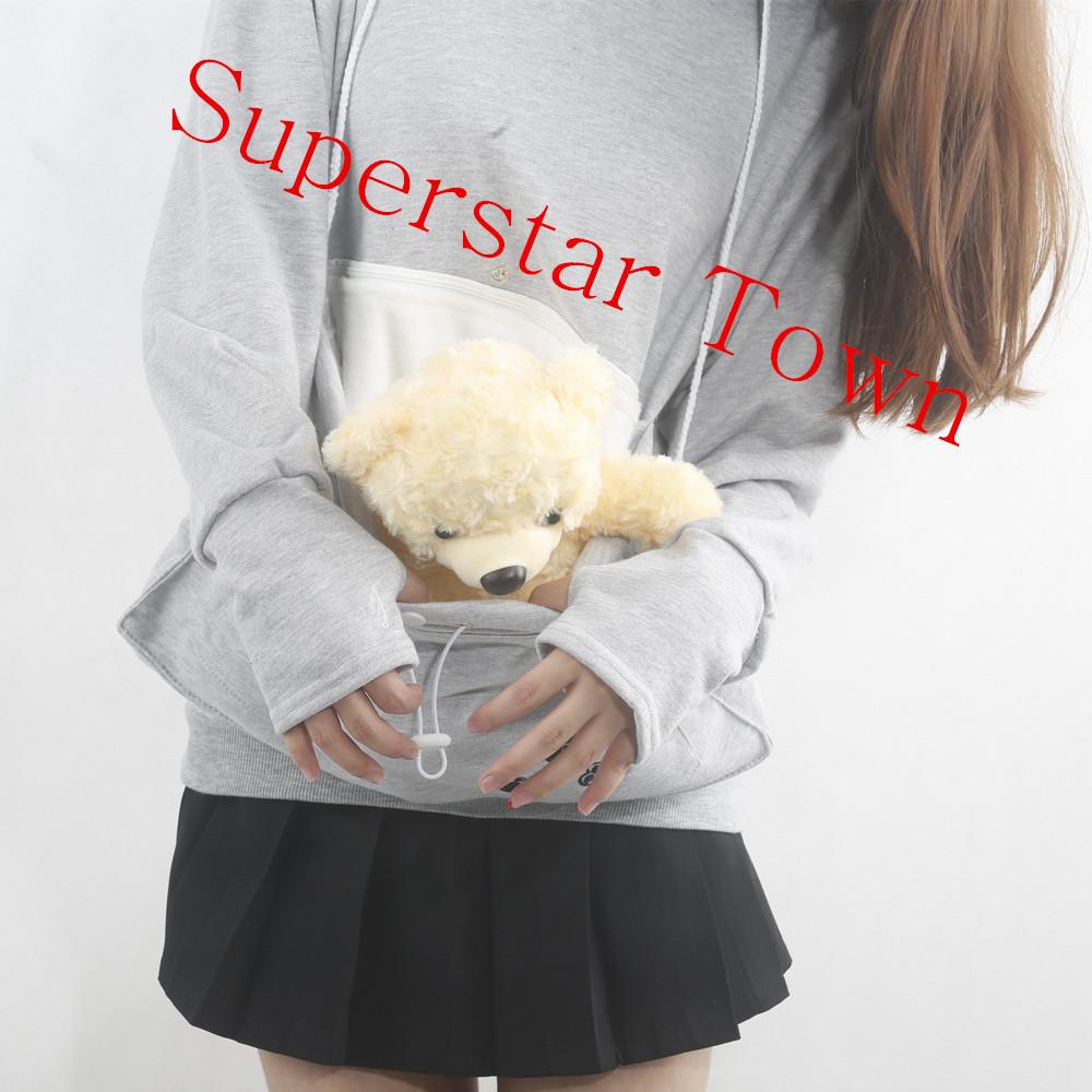 Cat lovers bluzy z cuddle etui dog pet bluzy dla kangura dorywczo swetry z uszy bluza 4xl drop shipping 12