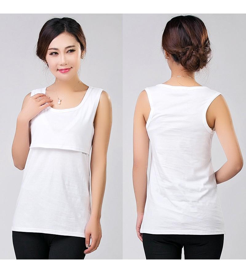2016 Lato Bawełna Nursing Tank Karmienie Karmienie Piersią Bluzki Ubrania Macierzyństwa Kobiety W Ciąży Moda Matki T-shirt Plus Size 9