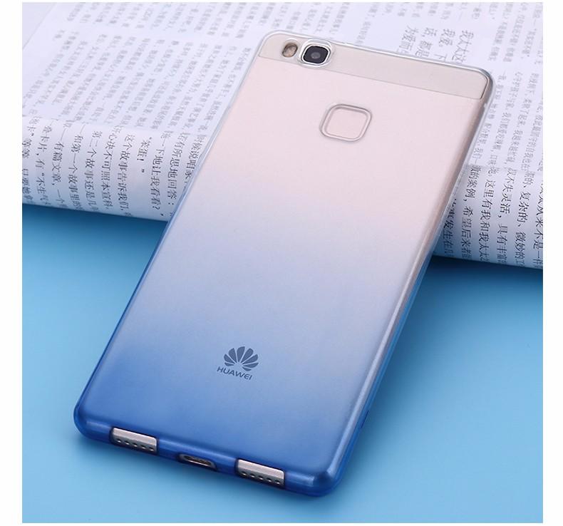 Ultra-cienki przezroczysty miękka tpu case dla huawei p8 p9 plus p8 lite krzemu gradientu telefon ochronna pokrywa dla huawei p9 Shell 11