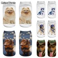 Calcetines para perros con impresión en 3D de moda, Chihuahua, Husky, Bichon, Canine, Labrador, Retriever Golden Retriever, perro pastor Samoyed