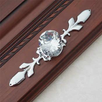 Ladeknop Handles Crystal Pulls Handvat Dresser Knop Pull Goud Zilver