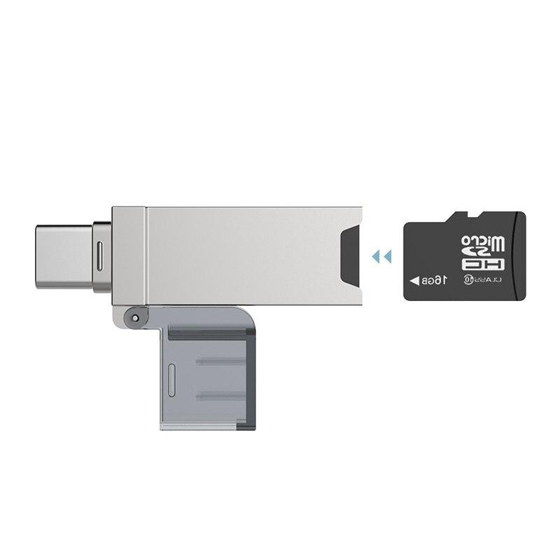 DM CR006-lector de tarjetas USB C, microSD/TF tipo C, multimemoria, para MacBook o teléfono inteligente, con interfaz de USB-C