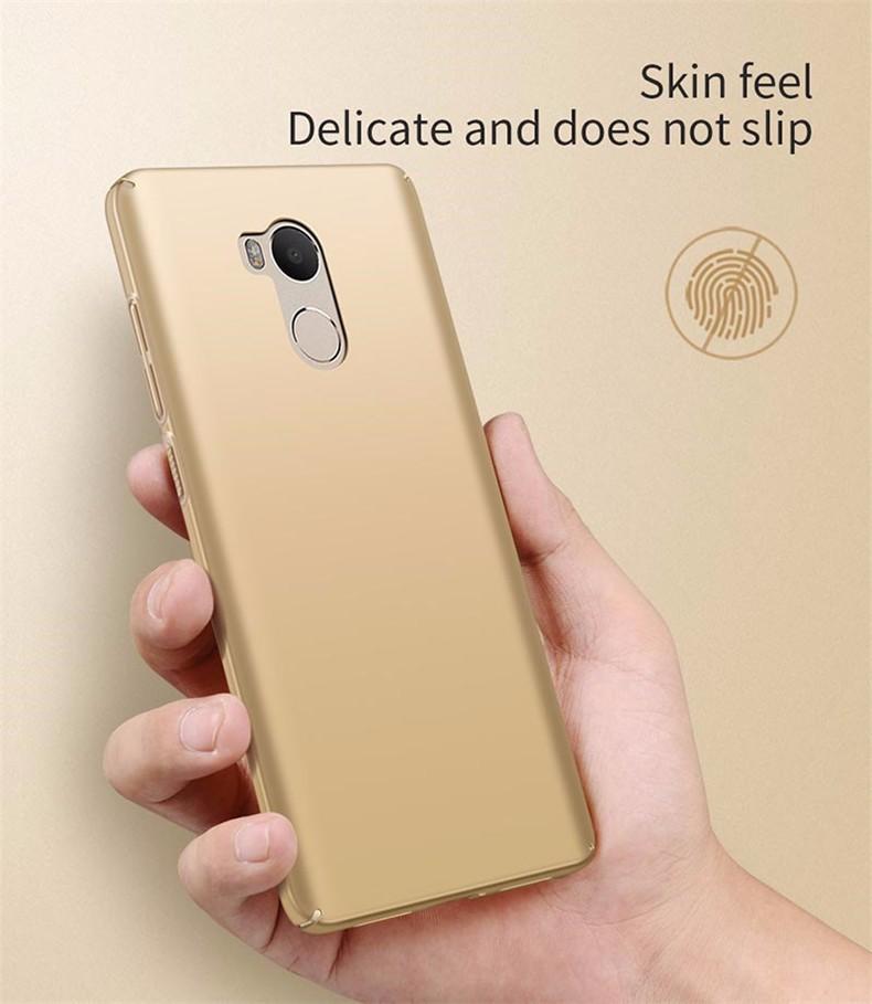 Luksusowe mocno plecy plastikowe matte case dla xiaomi redmi 4 pro przypadki przypadku xiaomi redmi 4 pełna pokrywa pc telefon komórkowy pokrycie p35 7
