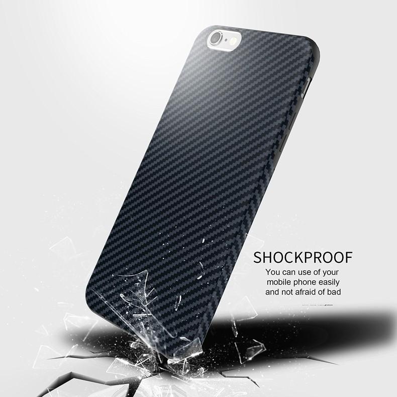 Najnowszy środowiska carbon fiber case dla iphone 6 6s plus miękkie antypoślizgowa anti-puk pokrywy dla iphone 7/plus skóra skóra torba 17
