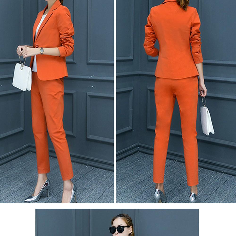 2017 w nowym stylu mody OL eleganckie kobiety pant suits formalna firm garnitur nosić pełne rękawem jednego przycisku femme blazer garnitur szczupła kurtka 3