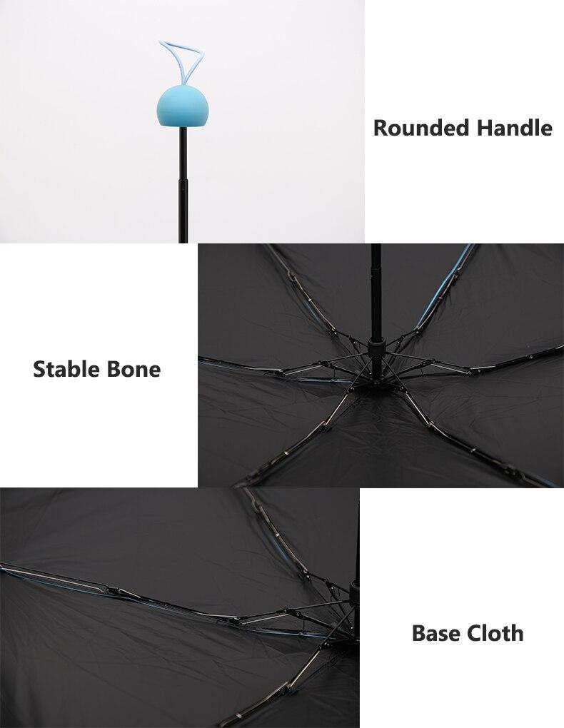 Ümmarguse käepidemega taskuvihmavarjud