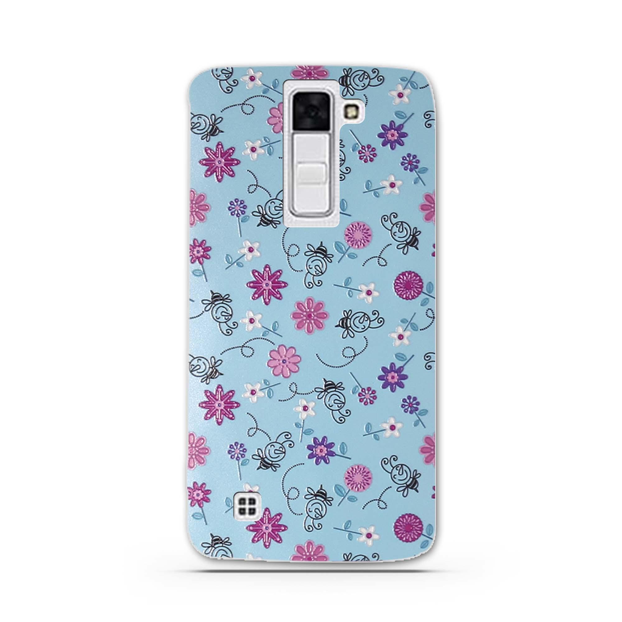 """Case Miękka TPU Luksusowe 3D Ulga Druk Pokrywy Skrzynka Dla LG K8 Lte K350 K350E K350N 5.0 """"K 8 Telefon Powrót Silicon Pokrywa Bag Sprawach 6"""