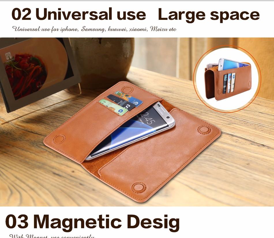 Floveme luksusowe retro skórzany portfel torby phone case do samsung s7 s6 s5 dla iphone 7 6 6 s plus se 5S 5 miękka pokrywa torebka marki 7