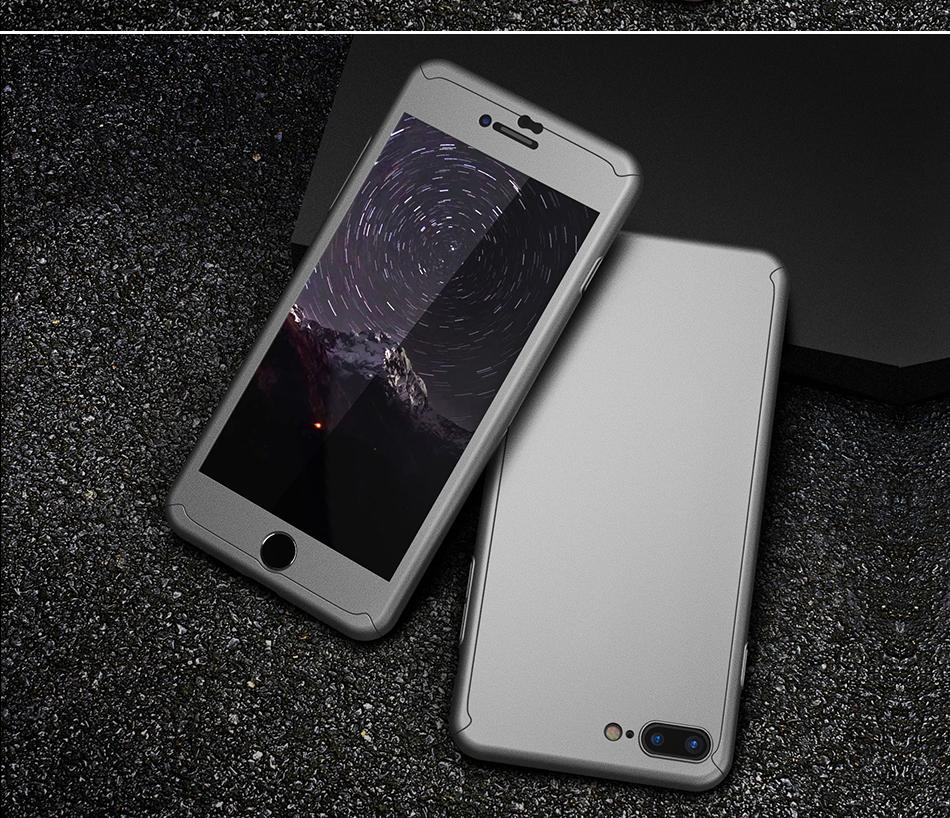 Floveme 360 pełna ochronne twarde etui na telefony iphone 6 6s plus 7 7 plus coque luksusowe odporny na wstrząsy case + ekran szkła Protector 14