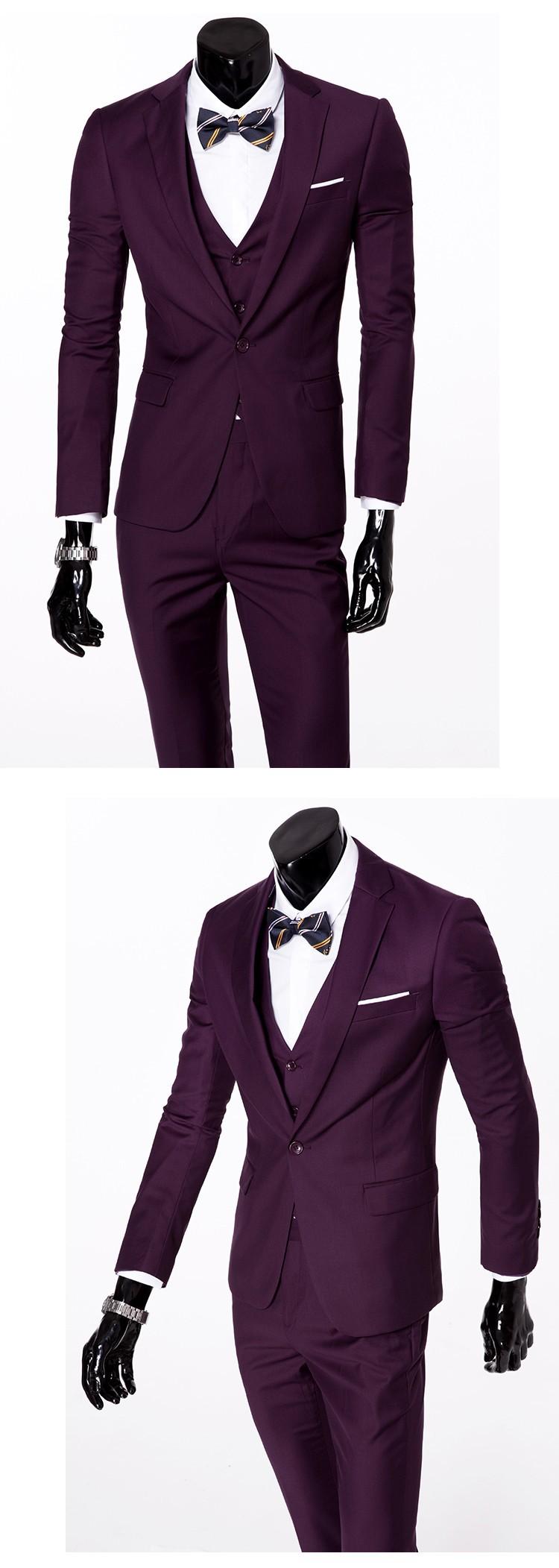 (Kurtka + kamizelka + spodnie) 2017 Nowa wiosna marka koszulka Męska slim fit Firm a trzyczęściowe Garnitury/Męskie dobrej groom dress/mężczyźni Blazers 17