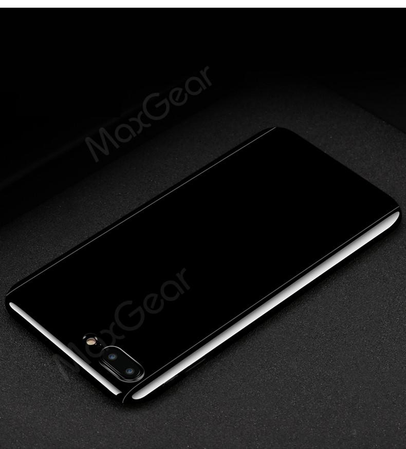 Luksusowe Piano Black 360 Stopni Ciężka PECET Skrzynki Dla Apple iPhone 5 5S SE 6 6 S 7 Plus Szczupła Całe Ciało Pokrywa Capa + Szklany Ekran Protector 27