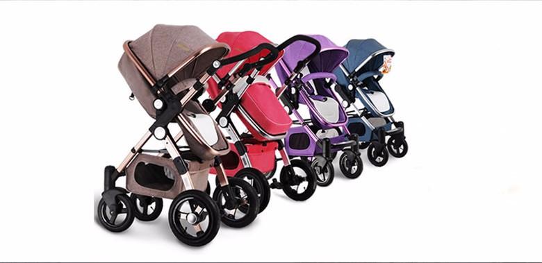 GoldenBaby wózka dziecięcego 2 w 1 3 w 1 szok składany składany newborn baby wózek Rosja darmowa wysyłka 5