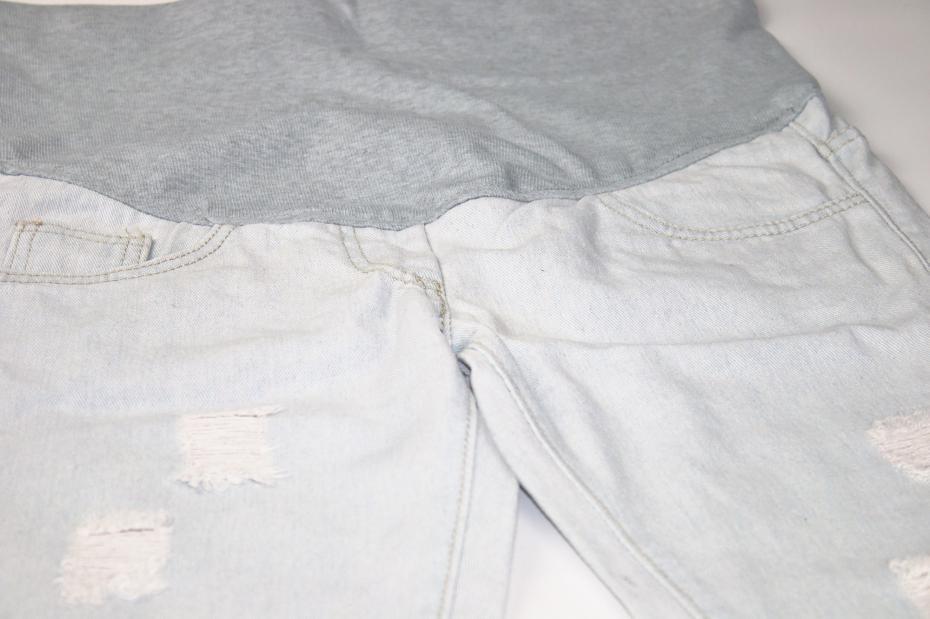 2016 Gorąca Sprzedaż Nowy Tkane Kobiet W Ciąży Ciąża Ropa Premama Dżinsy Mody Przypadkowi Spodnie Noszone Na Spodnie Brzucha Bez Rozciągania 5
