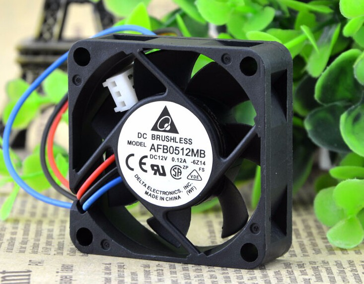 Wholesale: DELTA DC12V 0.12A 50*50*15 5CM AFB0512MB 3 wire ball cooling fan