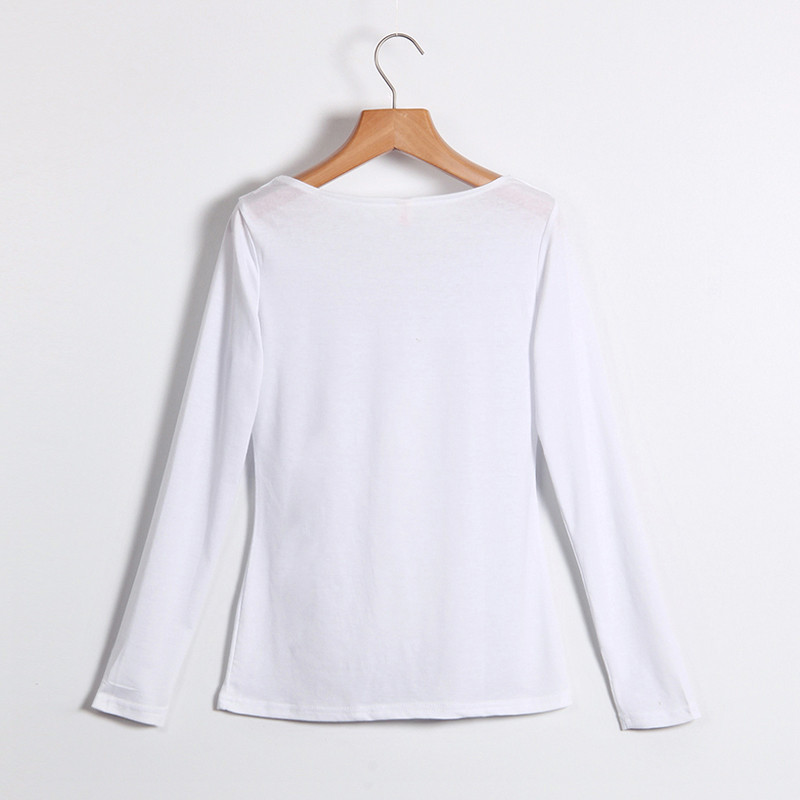 Kobiety Koszulki Z Długim Rękawem Topy Hollow Out Bandaż Swetry Slim Sexy Topy Tees Blusas plus size LJ4515M Femme 4