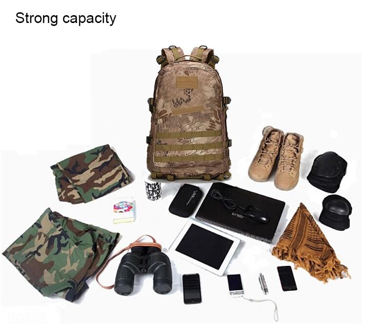 Veekindel ja vastupidav militaarne 30L seljakott