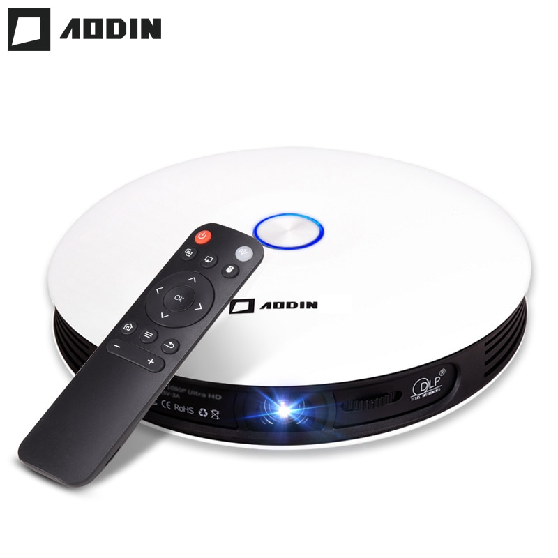 AODIN-proyector de bolsillo M18 DLP para cine en casa, proyector portátil HD 3D, HDMI, 1080P, 4K, LED, 2G, DDR3, 16G, Android, 5G, WIFI