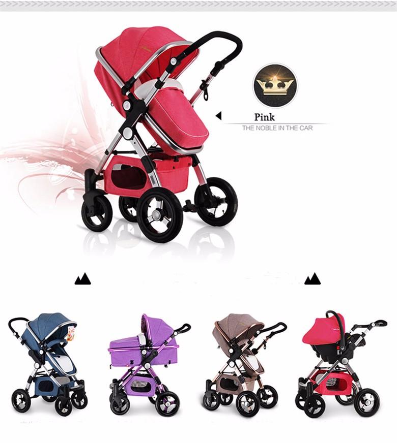 GoldenBaby wózka dziecięcego 2 w 1 3 w 1 szok składany składany newborn baby wózek Rosja darmowa wysyłka 8