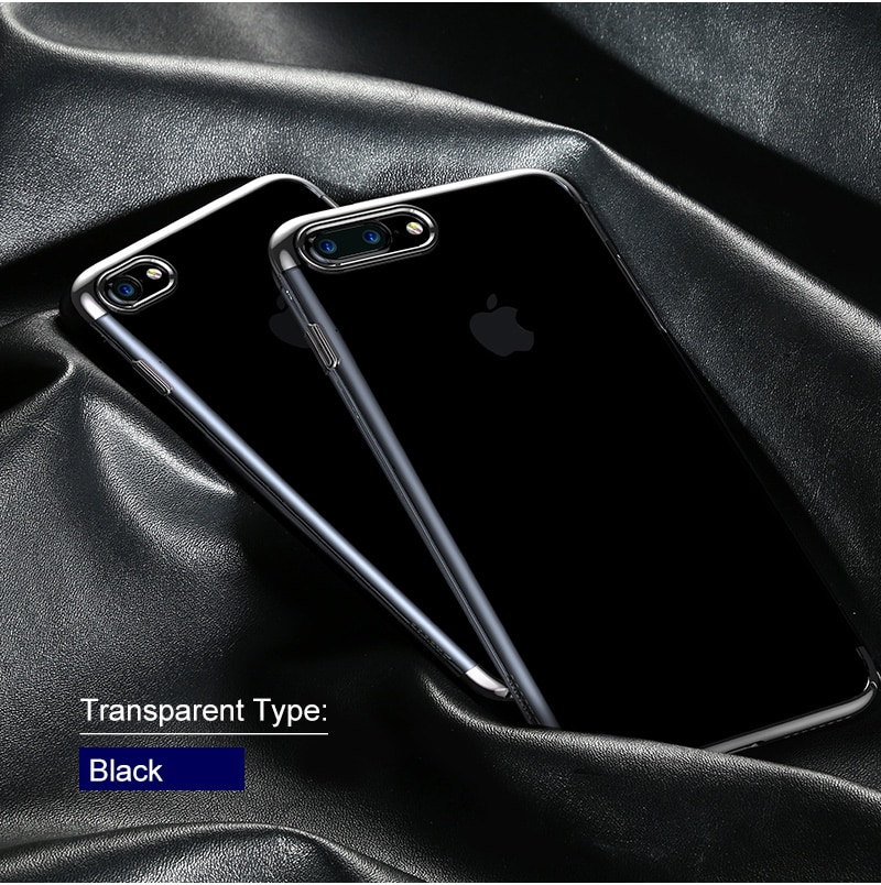 Baseus pc hard case dla iphone 7 pokrywa dla iphone 7 plus case anti-scratch galwanizacja telefon torba ochronna shell coque 12