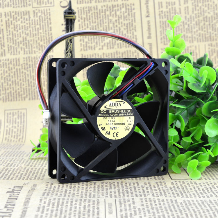 Original ADDA 9CM 9025 12V AD0912HB-A76GL 0.25A chassis power supply fan