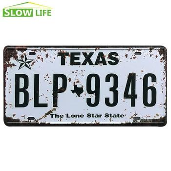 New USA FBI 007 Car Metal License Plate Metal Tin Sign Vintage Home