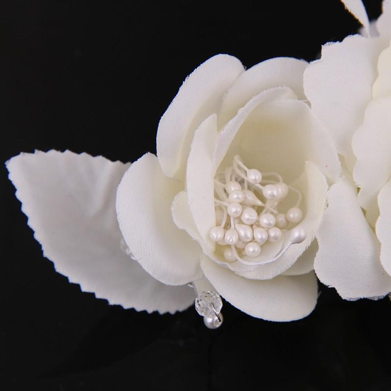 Elegant Bride Flower Pearl Wedding Charming Hair Clips 2