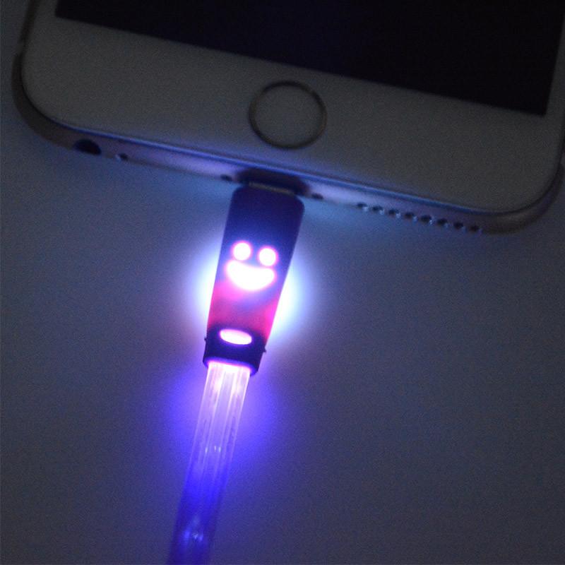 1 m noc światła led uniwersalny dla błyskawicy micro usb cable ładowarka złącze usb do ładowania danych sync dla iphone 7 ipad android 4