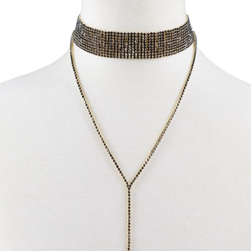 Rhinestone Crystal Luxury Choker Statement Necklace Jewelry 9