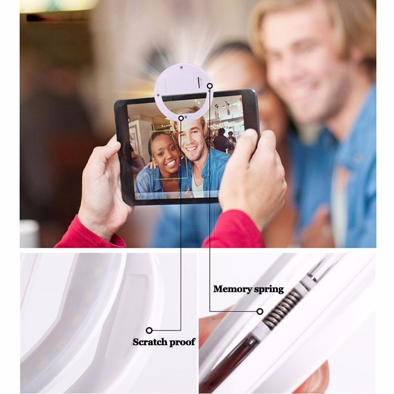 Luksusowe Uniwersalne Świetlna LED Flash Light Up Selfie Telefonu Pierścień Dla iPhone 6 6 S Plus LG Samsung Dla Xiaomi Huawei Lenovo Oneplus 4