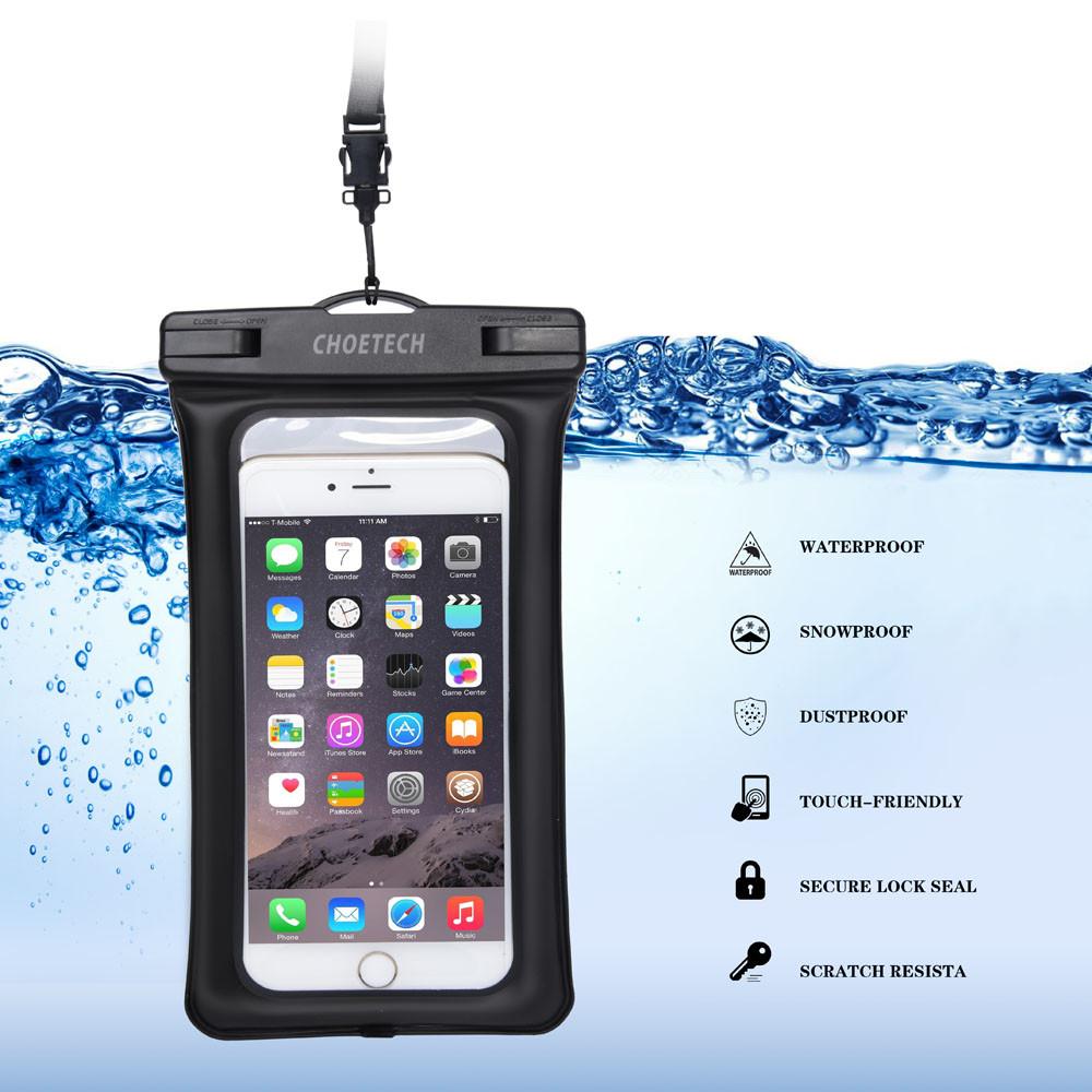 Choetech nadmuchiwane worki wodoodporne etui telefon komórkowy 30 m podwodne pralnia case pokrywa dla iphone 5 5s 6 6s plus/samsung/lg/xiaomi 7
