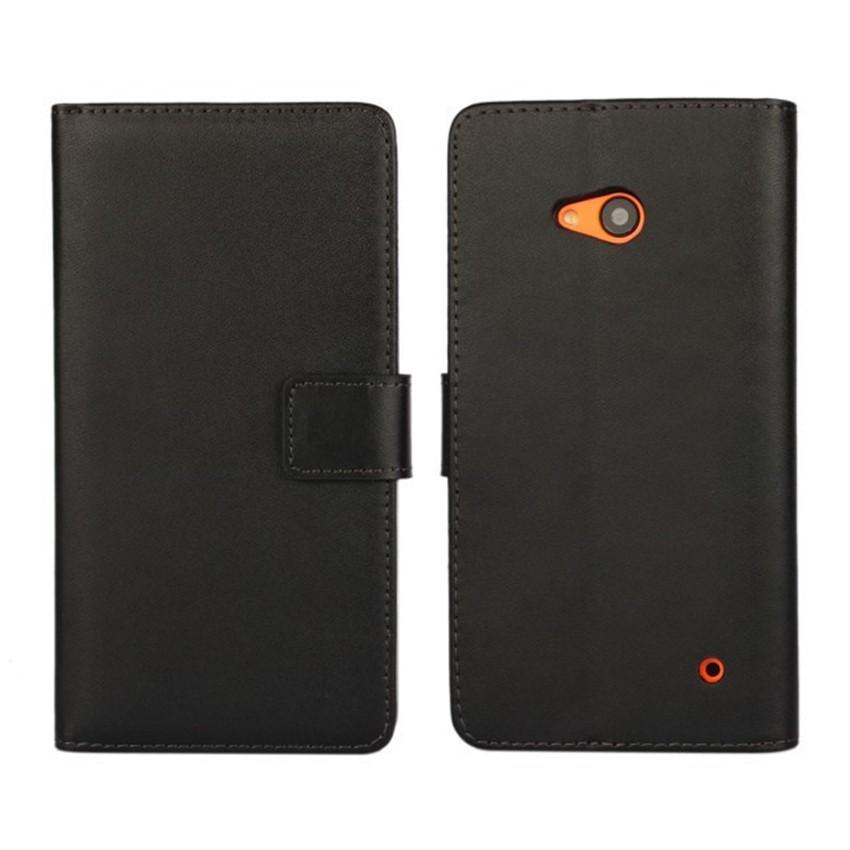Luksusowe odwróć portfel genuine leather case pokrywa dla microsoft lumia 640 lte dual sim cell phone case do nokia 640 n640 powrót pokrywa 2