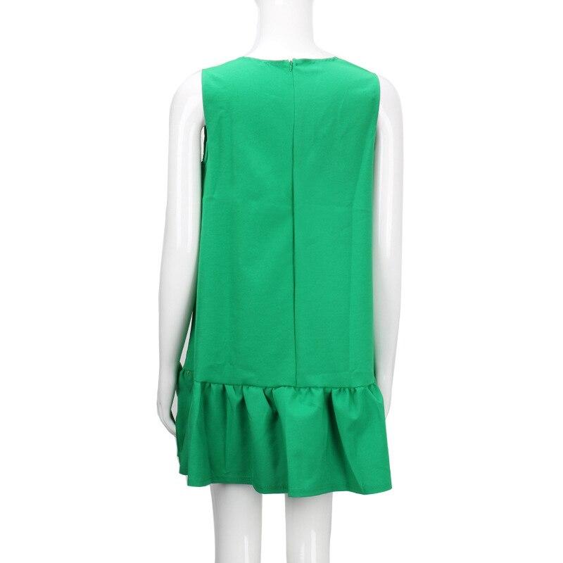 2017 damska vestidos sexy ruffles dress lato casual linia bez rękawów bodycon dress kobiety party plus rozmiar krótki mini suknie 18