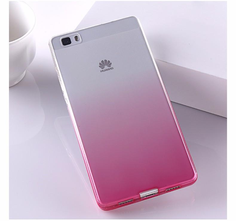 Ultra-cienki przezroczysty miękka tpu case dla huawei p8 p9 plus p8 lite krzemu gradientu telefon ochronna pokrywa dla huawei p9 Shell 22