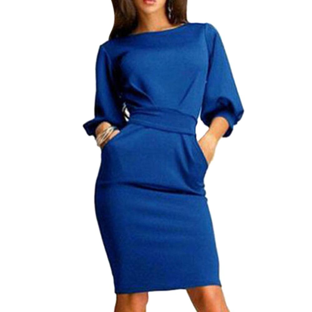 2017 jesień dress kobiety moda casual mini dress solid color krótki rękaw szyi kobiety dress dwie boczne kieszenie czarne sukienki 5