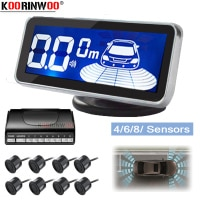 Koorinwoo LED צג אלקטרומגנטית חניה חיישן 8 רכב Parktronic מול חניה חיישן תנועה חניה תאורה אחורית רכב גלאי
