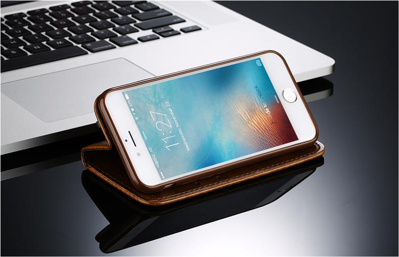 Skórzane etui z klapką telefon case for iphone 7 plus 6 s plus 5S 4S samsung galaxy S3 S4 S5 S6 S7 S8 Krawędzi Plus Uwaga 3 4 5 Karty Telefon torby 6