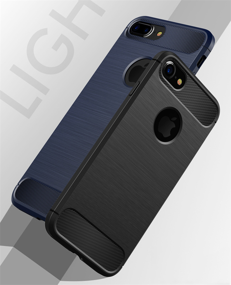 Luksusowe wstrząsoodporny telefon case for iphone 7 7 plus 6 6 s plus 5 5S se case new carbon fiber miękka tpu rysunek phone case back cover 1