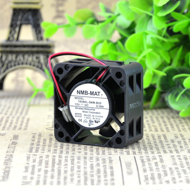 NMB 1608KL-04W-B20 4CM 40 12V 0.08A two lines silent cooling fan