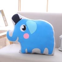 about 45x35cm creative cartoon elephant plush pillow toy sofa cushion zipper closure washable soft pillow birthday gift s2821