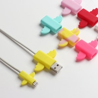50pcs nette engel Kabel Protector Draht Wickler für iPhone USB Kabel Organizer Chompers Nette Cartoon Bites Telefon Halter Zubehör